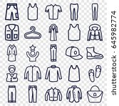 casual icons set. set of 25... | Shutterstock .eps vector #645982774