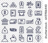 banking icons set. set of 25... | Shutterstock .eps vector #645986440