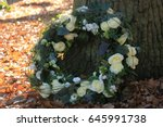 shaped sympathy or funeral... | Shutterstock . vector #645991738