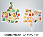 healthy lifestyle concept. we...   Shutterstock .eps vector #645992749
