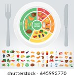 healthy food for human body....   Shutterstock .eps vector #645992770