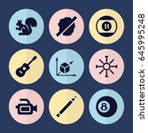 set of 9 creative filled icons... | Shutterstock .eps vector #645995248