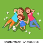 vector illustration happy... | Shutterstock .eps vector #646000318