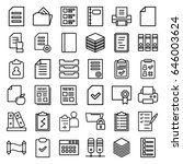 document icons set. set of 36... | Shutterstock .eps vector #646003624