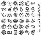 planet icons set. set of 36... | Shutterstock .eps vector #646003660