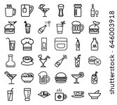 drink icons set. set of 36... | Shutterstock .eps vector #646003918