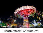 carnival amusement part with... | Shutterstock . vector #646005394