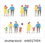 happy family character vector... | Shutterstock .eps vector #646017454