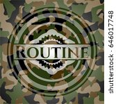 routine written on a camouflage ... | Shutterstock .eps vector #646017748