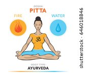 pitta dosha   ayurvedic... | Shutterstock .eps vector #646018846