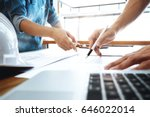image of engineer meeting for... | Shutterstock . vector #646022014