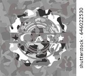 cab on grey camouflaged pattern | Shutterstock .eps vector #646022530