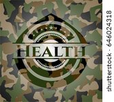 health on camo pattern | Shutterstock .eps vector #646024318