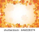 orange maple leaves and white... | Shutterstock .eps vector #646028374
