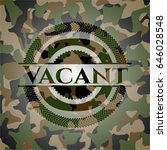 vacant on camouflaged pattern | Shutterstock .eps vector #646028548