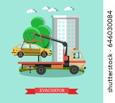 vector illustration of tow... | Shutterstock .eps vector #646030084