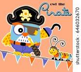 owl the pirate  vector cartoon...   Shutterstock .eps vector #646032670