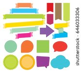 ribbons and labels with strips...   Shutterstock .eps vector #646033306