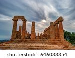 temple of juno   ancient greek... | Shutterstock . vector #646033354