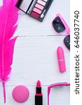 collection of make up and... | Shutterstock . vector #646037740