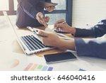 close up of business man hand... | Shutterstock . vector #646040416