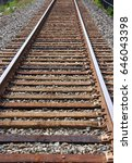 Small photo of wooden train tracks