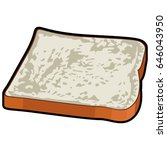 isolated slice of bread on a... | Shutterstock .eps vector #646043950