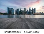 sunset in singapore's financial ... | Shutterstock . vector #646046359
