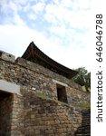 gongju gongsanseong fortress ... | Shutterstock . vector #646046788