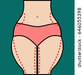 liposuction of hips and thighs. ... | Shutterstock . vector #646055398