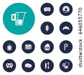set of 12  icons set.collection ... | Shutterstock .eps vector #646055770