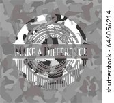 make a difference on grey...   Shutterstock .eps vector #646056214