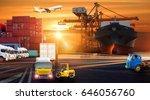 logistics and transportation of ... | Shutterstock . vector #646056760