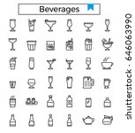 beverages recipes vector...