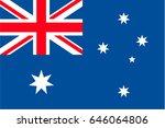 australia flag | Shutterstock .eps vector #646064806