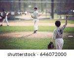 baseball game | Shutterstock . vector #646072000