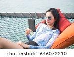 young beautiful woman in...   Shutterstock . vector #646072210