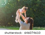 happy family concept   father ... | Shutterstock . vector #646074610