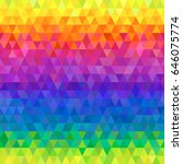 rainbow triangles seamless... | Shutterstock .eps vector #646075774