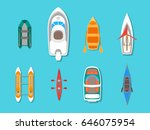 cartoon color boats icons set... | Shutterstock .eps vector #646075954