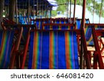 canvas chair | Shutterstock . vector #646081420