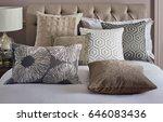 comfortable bedroom with nice... | Shutterstock . vector #646083436