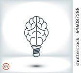brain light bulb icon  best... | Shutterstock .eps vector #646087288