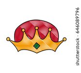 wise man crown epiphany design | Shutterstock .eps vector #646089796