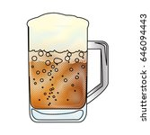 big glass of lager beer from... | Shutterstock .eps vector #646094443