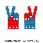 foam finger victory. symbol of...   Shutterstock . vector #646096243