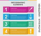 modern experiment infographic... | Shutterstock .eps vector #646098484