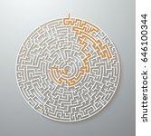 illustration of vector maze.... | Shutterstock .eps vector #646100344