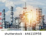 oil and gas industry refinery... | Shutterstock . vector #646110958
