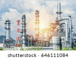 oil and gas industry refinery... | Shutterstock . vector #646111084